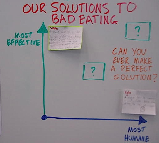 Our solutions to bad eating 2